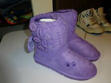 Greater Good Boot Slippers Size 8 Lavender NEW Animal Rescue Site