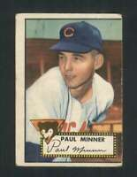 1952 Topps #127 Paul Minner VG/VGEX RC Rookie Cubs 108527