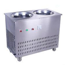 220V Double Pan Fried Ice Cream machine Stir Yogurt machine Fry Ice Roll Maker