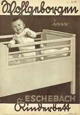 Eschebach Radeberg Prospekt Kinderbett 1937