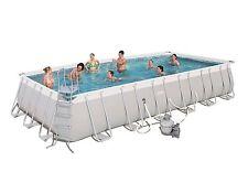 "Bestway 24' x 12' x 52"" Rectangular Frame Above Ground Swimming Pool Set"