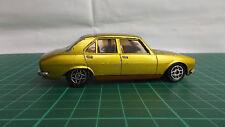 DINKY francese PEUGEOT 504 Elettrico Metallico Giallo 1406 RARA Diecast 1980 Auto Giocattolo