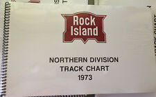 Rock Island Northern Division CRI&P Track Chart 1973 Diagram Profile