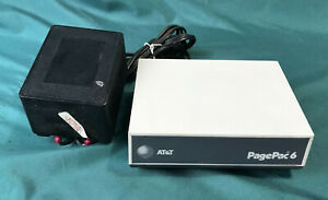 AT&T PagePac 6 Telephone System Voice Paging System w/ Power Supply