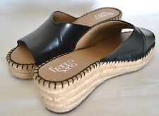 ab4b6d08dc3b Franco Sarto Pinot Black Espadrille Wedge Shoes Size 8