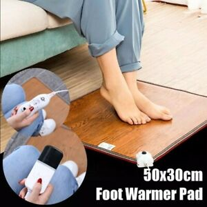 Leather Heating Foot Mat Waterproof Warmer Electric Hot Pad For Winter Christmas