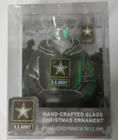 U.S. Army Hand Crafted Glass Christmas Ornament