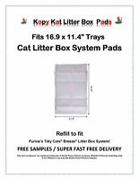 "40-80-120-160 Kopy Kat Pads Fits Name Brand 16.9x11.4"" Cat Litter Box Systems"