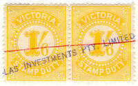 (I.B) Australia - Victoria Revenue : Stamp Duty 1/6d