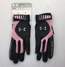 Under Armour Women's The Laser Batting Glove Softball Pink Black Sz Medium NWT