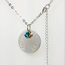 Monogram Necklace, Custom Monogram Necklace, Initials Necklace, Personalized
