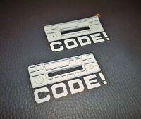 2 Mercedes-Benz Radio Code Aufkleber W124 R129 W140 W202 W208 W210 W168 sticker