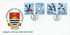 Kiribati 2019 FDC Independence 40th 4v Set Cover Petrels Shearwater Birds Stamps