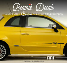 FIAT 500 Side Stripes Stickers Decals Graphic Vinyl Decal Racing Abarth