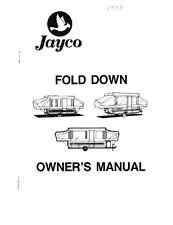 1993 Jayco Cardinal King Eagle Esprit 1206BB 806 Popup Trailer Owners Manual