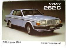 VOLVO 262 C Model year 1981 TP 2084/1 2000.8.80 Original Owners Car Handbook