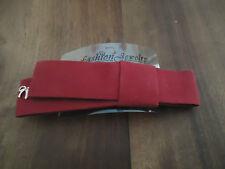 BARRETTE A CHEVEUX - FIONA AVEC NOEUD EFFET VELOURS ROUGE - dim.11*2,5 cm