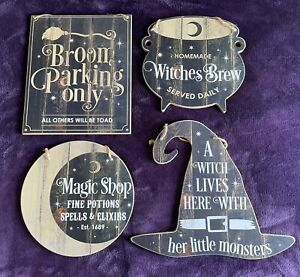 Halloween Witch Door Wall Sign  - Magic Shop, Broom Parking, A Witch lives here