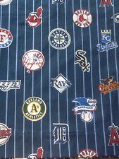 Custom Valance~Navy With Gray Stripes~ Potter Barn Teen 62 by 15  PBT  Baseball