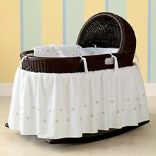 Barely Used Espresso Hand-Woven Baby Bassinet The Land Of Nod of Crate And Kids