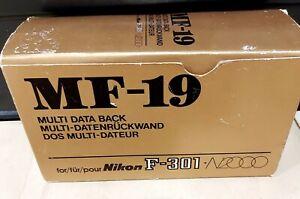 Nikon MF-19 Data Back for Nikon F-301 or F-501 cameras New in box