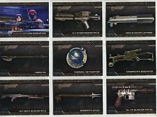 Star Wars Galactic Files Reborn Complete Weapons Chase Card Set W1-10