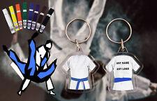 Personalised Judo - Karate - Ju Jitsu - Kickboxing double sided Blue Belt