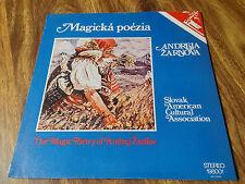 NEW Andrej Zarnov Magicka Poezia Vinyl 1979 Lp Album Slovak 198001 Poetry Saca