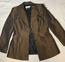 New listing Vintage Escada Margaretha Ley Copper Jacket 38 And Skirt 40 Suit Wool And Silk