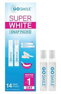 NEW Go Smile Super White Teeth Whitening Snap Packs 14 Pack One-Week Treatment