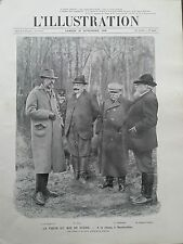 L' ILLUSTRATION 1908 N 3431  LA VISITE DU ROI DE SUEDE A LA CHASSE A RAMBOUILLET