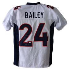 Champ Bailey Autographed/Signed Denver Broncos White XL Jersey HOF JSA 23978