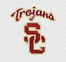 USC Trojans - Bling - Iron-on Glitter Vinyl & Rhinestone Transfer