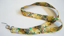 Legend of Zelda Gold Color Fabric Lanyard Keychain #2