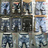 Men Denim shorts Men Shorts Short Jeans Ripped Jeans Rip short pant Midi Jeans