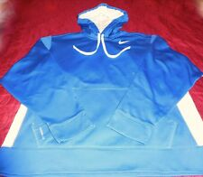 MEN'S NIKE ATHLETIC,LEISURE WEAR L/S FULL ZIP THERMA-FIT HOODIE BLUE Sz XL
