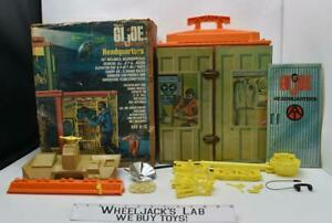 "GI Joe Adventure Team Headquarters W Box Action Figure Playset 12"" 1972 Hasbro"