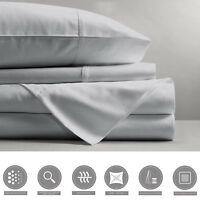 Luxury Queen Bed Sheets Set (Flat Bed Sheet + Fitted Bed Sheet + 2x Pillowcases)