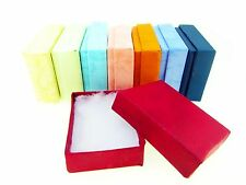 25 50 100 ASSORTED PASTEL COTTON JEWELRY BOXES 2 1/2