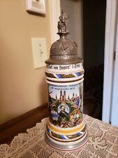 Antique German Military Regiment Beer Stein