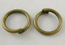 Bronze Jump Ring 6mm Unsoldered Open Spit Rings Single Loop 100 pieces