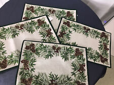 St. Nicholas Square Pinecone Chenille Tapestry 4 Placemats
