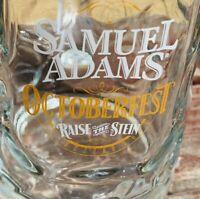 Samuel Adams Octoberfest Raise The Stein 0.5L Dimpled Beer Mug Boston Mass Optic
