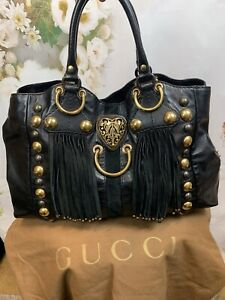 Gucci Babouska Large Fringe Studded Tote Gorgeous Authentic Rare MSRP $3495