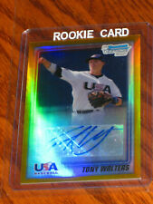 Tony Wolters Autographed 2010 Bowman Chrome Gold Refractors #USA-TW  RC - /50