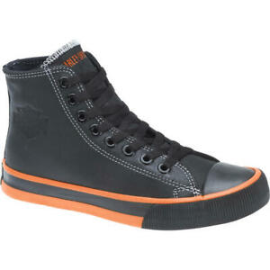 Harley Davidson Men's Nathan Hi-Top Casual Sneakers Daps Trainers D93816, UK 9