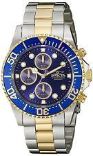 Invicta Reloj Hombre Gold Oro Silver Crystal Bracelet Pulsera Hand Man Watch