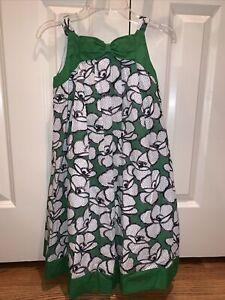 Janie And Jack NWOT Sz 10 Spring Green Gardenia Dot Floral Bow Dress