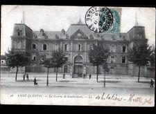 SAINT-QUENTIN (02) CASERNE de GENDARMERIE animée avant 1904