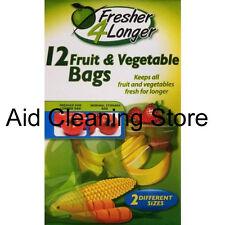 Sealapack 12 Fruit & Vegetable Bags Fresher 4 Longer 2 Different Sized bags